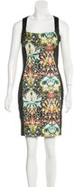 Just Cavalli Floral Print Sheath Dress