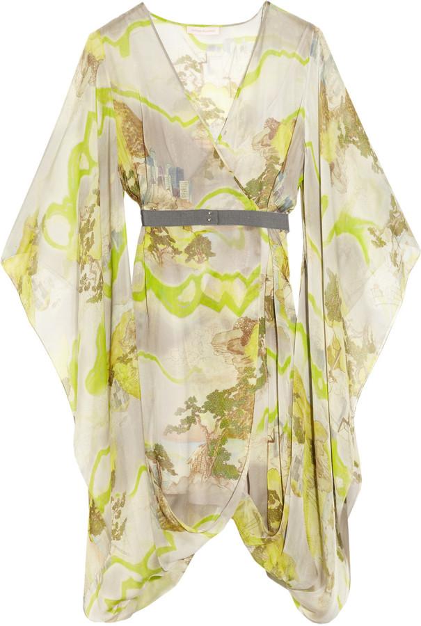 Matthew Williamson Kyoto printed silk-chiffon wrap dress