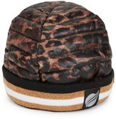 Think Royln Downtown Crown Leopard-Print Puffer Beanie