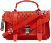 Proenza Schouler PS1 Tiny Perforated Satchel Bag, Red