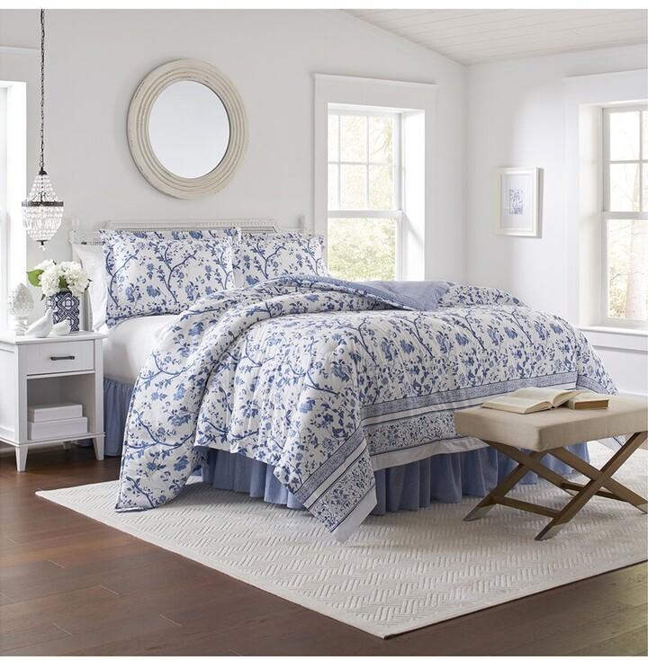 Laura Ashley Bed Linens The, Laura Ashley Charlotte Blue Bedding
