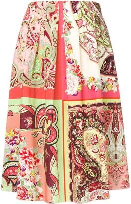 Etro Paisley Print Midi Skirt