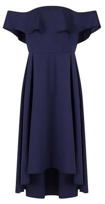Dorothy Perkins Womens *Chi Chi London Blue Yazmina Dress, Blue