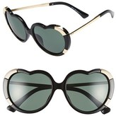 A. J. Morgan Women's A.j. Morgan 'Heartstomper' 58Mm Heart Shaped Sunglasses - Black
