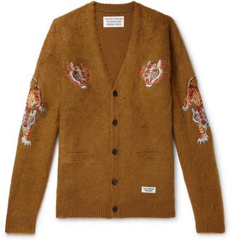 Wacko Maria + Tim Lehi Appliqued Knitted Cardigan