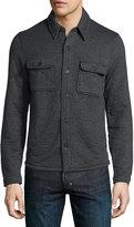Billy Reid Darryl Button-Front Shirt Jacket, Dark Gray