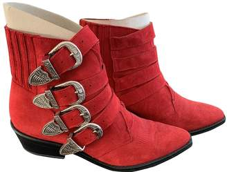 Toga Pulla Red Suede Boots