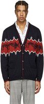 Lanvin Navy Wool Koi Fish Cardigan