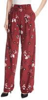 Valentino Garavani Floral-Print Pajama Pants