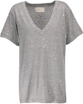 Current/Elliott The V Neck printed stretch-jersey T-shirt