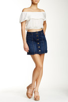 Jolt Seamed Denim Mini Skirt