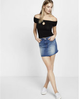 Express a-line denim mini skirt