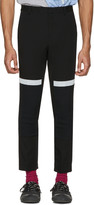 Lanvin Black Reflective Band Trousers