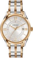 Versace Apollo Two-Tone Bracelet Watch, Rose Golden/Silver