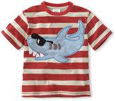 Mini Boden Stripe Appliqué TShirt (Toddler & Little Boys)