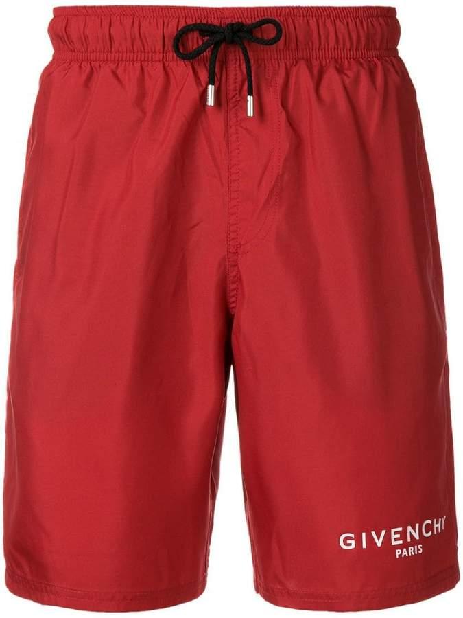 Givenchy side logo swim shorts