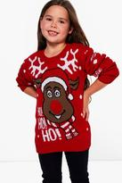 Boohoo Girls Rudolph Christmas Jumper
