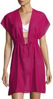 Gottex Jezebel Chiffon Beach Dress, Wine