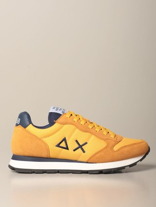 Sun 68 Sneakers In Suede And Canvas