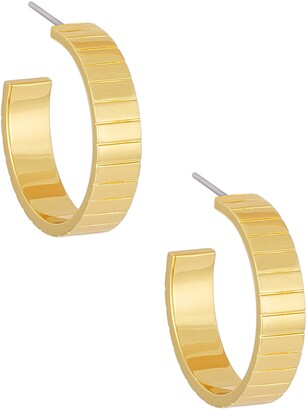 Uncommon James by Kristin Cavallari Pave the Way Textured Hoop Earrings