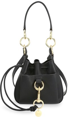 See by Chloe Mini Tony Suede Bucket Bag
