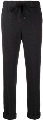 Peserico Side-Stripe Drawstring Trousers
