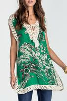 Miss Me Crochet Trim Tropic Tunic