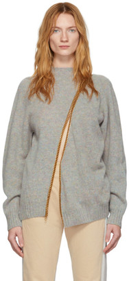 Bless Grey and Gold Chain Divided Sweater