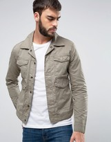 Wrangler Military Jacket Dusty Olive