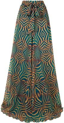 Andrea Iyamah Zane wide-leg trousers