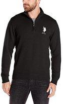 U.S. Polo Assn. Men's Solid Jersey Quarter-Zip Sweater