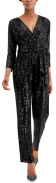 INC International Concepts Inc Long-Sleeve Banded Jumpsuit, Created for Macy's