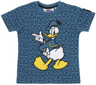 Fabric Flavours DONALD DUCK PRINT COTTON JERSEY T-SHIRT