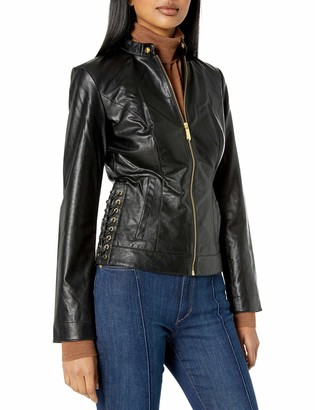 True Religion Women's LACE UP Moto Jacket