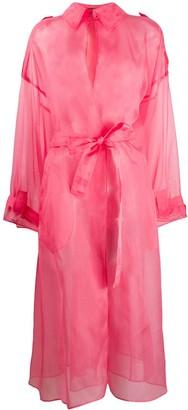 Dolce & Gabbana Organza Tie Fastening Sheer Coat