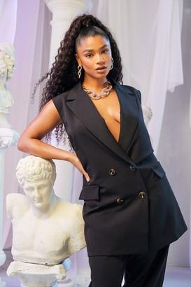 boohoo Plus Tailored Pocket Detail Waistcoat