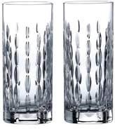 Royal Doulton Set of 2 R&D Neptune Crystal Highball Glasses