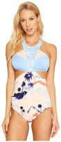 Roxy Pop Surf High Neck One-Piece Women's Swimsuits One Piece