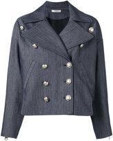 Lanvin denim military jacket - women - Silk/Acetate/Cupro/cotton - 36