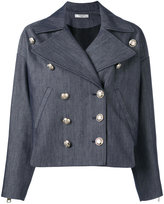 Lanvin denim military jacket - women - Silk/Acetate/Cupro/cotton - 42