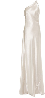 Galvan Roxy One-shoulder Satin-crepe Gown