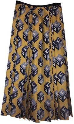 Gucci Yellow Silk Skirt for Women