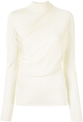 Agnona Draped High-Neck Jumper