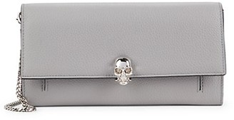 Alexander McQueen Pebbled Leather Wallet-On-Chain