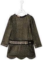 John Galliano scalloped hem dress