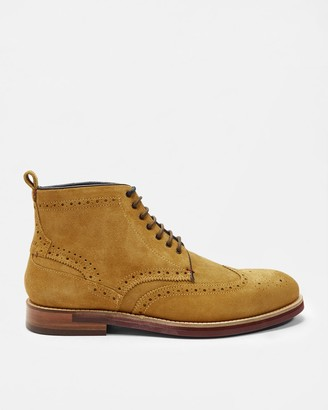 Ted Baker Brogue Detail Ankle Boots