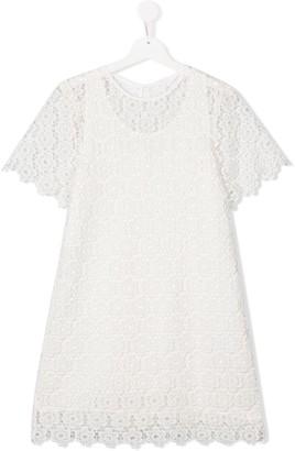 Chloé Kids TEEN lace dress