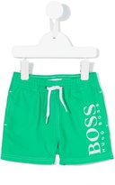 Boss Kids - logo print swim shorts - kids - polyester - 3 mth