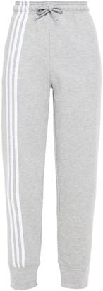 adidas Striped Melange Cotton-blend Jersey Track Pants