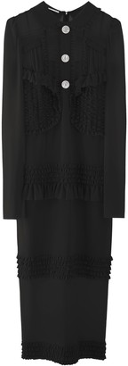 Miu Miu Button Detail Long Sleeve Dress